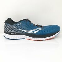 Saucony Mens Guide 13 S20548-25 Blue Black Running Shoes Lace Up Size 11.5