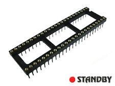 5pcs DIL / DIP 48 IC Precision socket Screw Machine Round hole pin AUGAT 48 pin