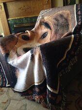 Love Beagle dog Companion Best Friend Cotton Jacquard Woven Throw Blanket NEW