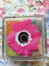 The Body Shop Shimmer Cubes Eye Shadow Quad #32 peach, grey, green, Pink