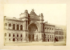 France, Paris, Palais de l'Industrie Vintage albumen Print Tirage albumin