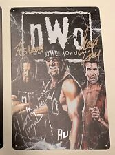 Hulk Hogan  NWO Metal Sign Poster Kevin Nash Hall Wcw Wwf Wwe New World Order