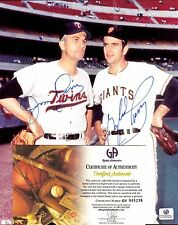 ORIGINAL 8x10 PHOTO AUTOGRAPHED JIM & GAYLORD PERRY DUAL AUTO, GAI/DNA JSA. MINT