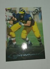 2001 Press Pass Torquers Blue Steve Hutchinson RC HOF Michigan rookie card