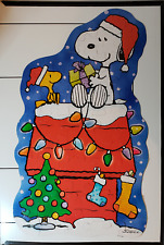 SPRINGBOK XZL8006 - Merry Christmas Snoopy, shaped Peanuts floor puzzle COMPLETE