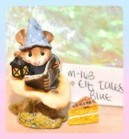 ❤️Wee Forest Folk M-163 Elf Tales Mouse Blue Book Mushroom Lantern Retired WFF❤️