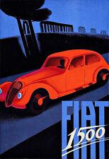 Art FIAT 1500 déco automobile voiture Poster Print