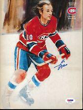 Guy Lafleur Signed Canadiens Magazine Autograph Auto Psa/Dna Af91361