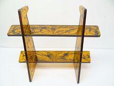 Mid-century Modern Amber Black Lucite Desk Organizer Stand Shelf Used Old