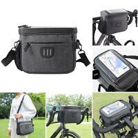 KQ_ Waterproof Cycling Bag Bicycle Bike Handlebar Bag Front Tube Pannier Rack Ba