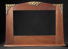CADRE ART-DÉCO CHENE DÉCOR FLORAL STUC DORÉ feuillure : 23 x 38 cm