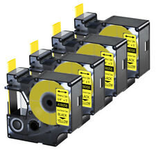 4pk For Dymo Rhino 42005200 Heat Shrink Tube 18058 Industry Label Tape 34x5