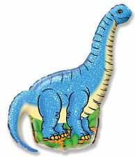 "Blue Diplodocus Dinosaur 26"" Foil Helium Balloon Kids Party Birthday Present Toy"