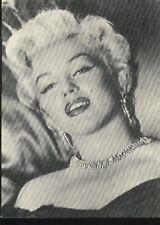 MARILYN MONROE diamonds earrings smiling Glam postcard carte postale cp AK