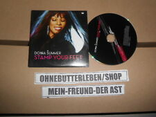CD Pop Donna Summer - Stamp Your Feet (1 Song) Promo SONY BMG BURGUNDY