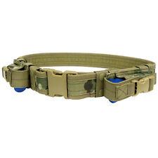 CONDOR Tactical Nylon Belt w/2 Pistol Mag Pouches tb CRYE MULTICAM Camo