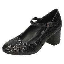 Chaussures habillées noir avec boucle pour fille de 2 à 16 ans