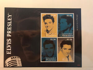 Elvis Presley Postage Stamp Arch Mint Unused Dominica Nr.B49