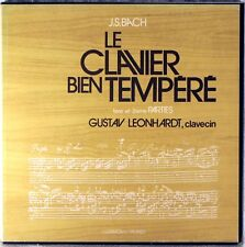 5 LP BOX HARMONIA MUNDI JS Bach LEONHARDT Well-Tempered Clavier HM-20309/13 NM-