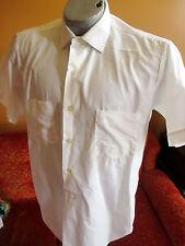 MEDIUM True Vtg 70's Mens SS CLASSIC ARROW WHITE BUSINESS DRESS SHIRT USA MENS