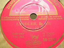 "12"" 78 rpm , SCHUBERT-LANDLER-Piano solo ALFRED CORTOT GRAMOPHONE DB 3268"