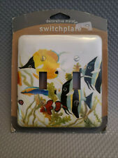 Metal Light Switch Plate Cover Tropical Bathroom Colorful Tropical Fish Decor
