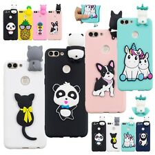 3D Animal Silicone Phone Cover Case For Huawei Y9 Y5 2018 Xiaomi Redmi Note 5A
