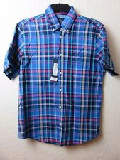 Mens Shirt Small 36 38  M&S Marks Spencer Blue Harbour Short Sleeves NEW Check