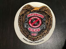 NOS VINTAGE POWELL PERALTA POLICE SKATEBOARD STICKER BMX FREESTYLE RACING