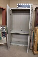 New grey whitewash neutral wooden armoire furniture showroom sample Great deal