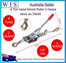 4 Ton Hand Winch Puller 3 Hooks Car 4x4 4WD Trailer Truck Come-along Hoist Lift