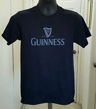 Brand New Guinness Brewery Men's Black T-shirt beer classic harp logo design tee
