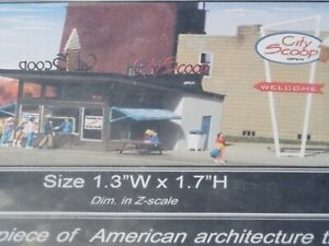 CS-100 Photo Etched Stainless Steel KIT Z-scale Micro Structures ICE CREAM Stand