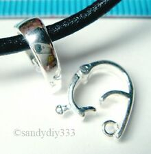 1x STERLING SILVER CHANGEABLE PENDANT CLASP SLIDE SHORTENER ENHANCER 12.5mm N951