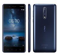 Nokia 8 Blue, Single SIM, Android 7.1.1 Nougat, Garanzia Ufficiale