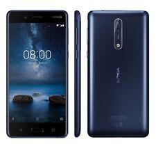 Nokia 8 Single SIM, Blu Temperato, Android 7.1.1 Nougat, Garanzia Ufficiale