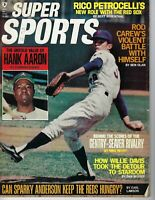 1971 Super Sports baseball magazine New York Mets Hank Aaron Atlanta Braves FrWr