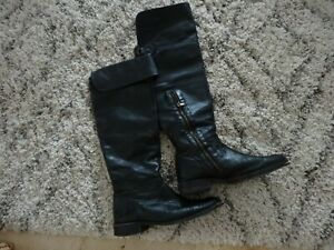 FRYE 9 Black Leather boots