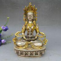 Tibet Buddhism Copper Bronze Tara Kwan-yin Bodhisattva GuanYin Goddess Statue