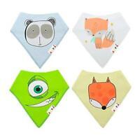 Baby Bandana Drool Bibs for Boys & Girls Unisex 4-Pack Gift Set 100% Cotton Soft