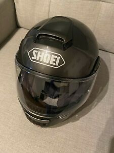 Shoei Neotec Flip Front Helmet inc SUN VISOR - Anthracite Grey Metalic - Large