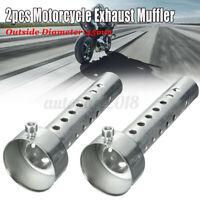 2x Moto Silenziatore Db Killer Diametro 45MM Lungo Scarico Smontabile Universale
