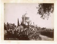 Algérie, Notre Dame d'Afrique  Vintage albumen print.  Tirage albuminé