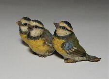 Antique Bergman Geschutz Cold Painted Vienna Bronze 3 Little Birds In a Row