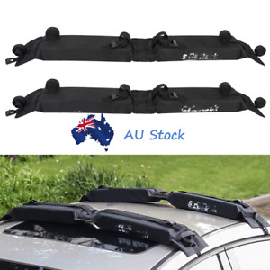 2pcs Foldable Soft Roof Rack Car SUV Top Luggage Cargo Carrier Snowboard Holder