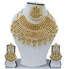 Bridal Kundan Designer Indian Wedding Style Gold Plated Choker Necklace Jewelry