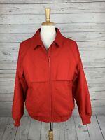 VTG Pendleton Red Thick Hunting Bomber Full-zip Jacket Mens L 100% Wool