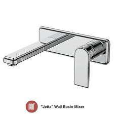"""Jetta"" Chrome Wall Mounted Basin Mixer - Designer Bathroom Taps"