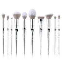 Jessup Makeup Brushes Set 10Pcs Silver Foundation Powder Eye Make Up Brush US
