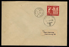 1944 Occupied Jersey England Channel Island Feldpost Cover to Hamburg Germany